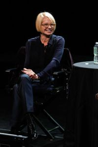 Ellen Barkin speaks at the 2011 New Yorker Festival: In Conversation With Ellen Barkin at SVA Theatre 2 on October 1, 2011 in New York City. The 2011 New Yorker Festival: In Conversation With Ellen Barkin SVA Theatre 2 New York, NY United States October 1, 2011 Photo by Mark Von Holden/Getty Images North America To license this image (127843310), contact WireImage.com